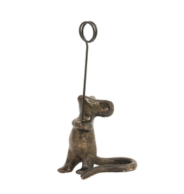 """CARD HOLDER-MOUSE, CAST IRON, 4"""" HIGH"""