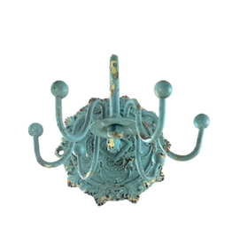 JEWELRY HOLDER-BAROQUE JEWELRY TURNSTILE, ANTIQUE BLUE