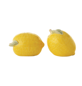 SALT/PEPPER SHAKERS-STONEWARE-LEMON, 2-1/4 , SET OF 2