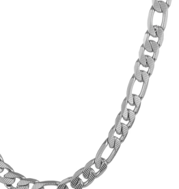 NECKLACE-CRUCIBLE MEN'S STAINLESS TEXTURED FIGARO, GOLD