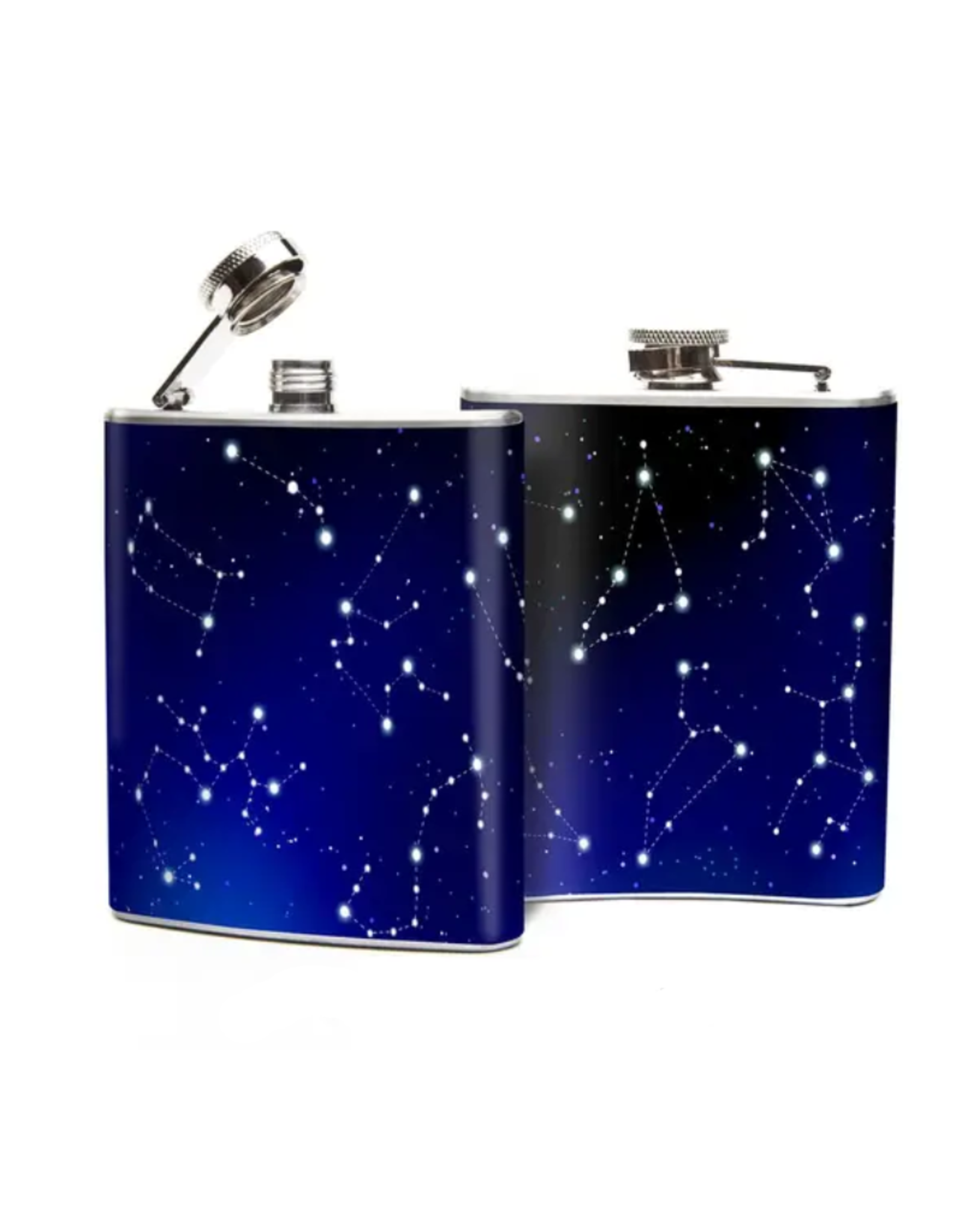 FLASK-ZODIAC CONSTELLATIONS, STAINLESS STEEL
