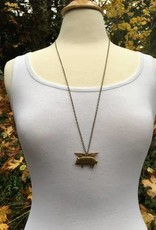 NECKLACE-BRASS-WHEN PIGS FLY