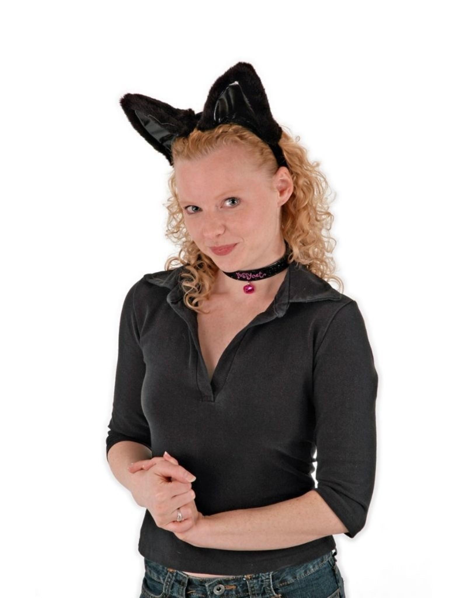 ANIMAL SET-CAT, EARS, COLLAR, & TAIL, BLACK