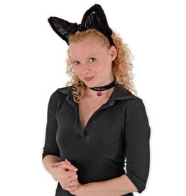 ANIMAL SET-CAT, EARS, COLLAR, & TAIL, BLK/BLK