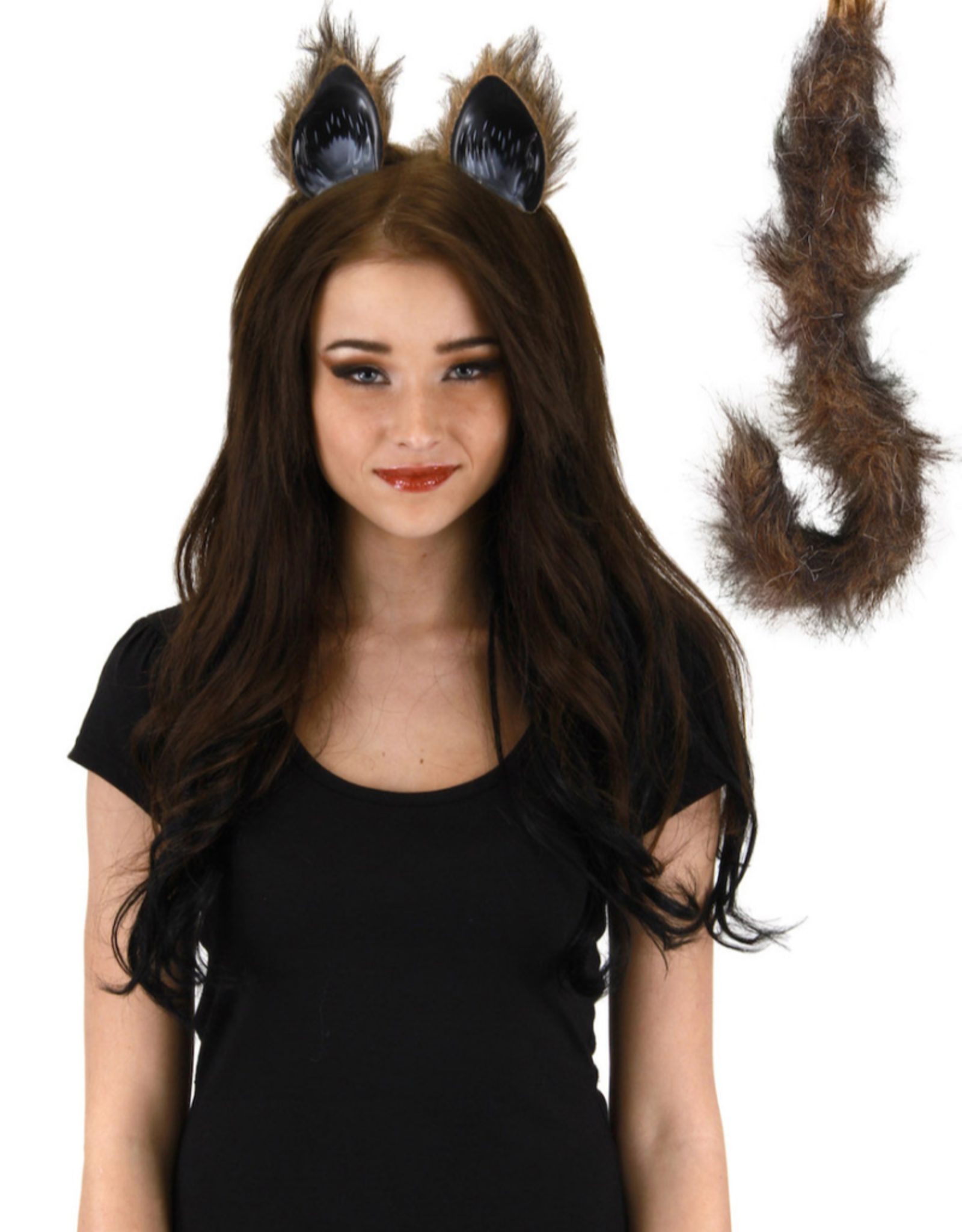 ANIMAL SET-CAT EARS, & TAIL, FOX COLORED