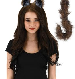 ANIMAL SET-CAT EARS, & TAIL, FOX COLORED