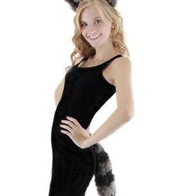 ANIMAL-RACOON KIT, EARS HEADBAND/TAIL