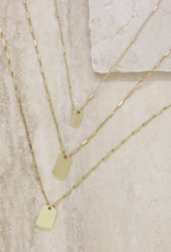 NECKLACE-TAG SET, FIND YOUR TRIBE, GOLD