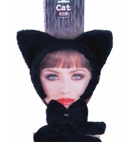 ANIMAL SET-CAT, BLACK, EARSW/TAIL