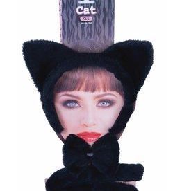 ANIMAL SET-CAT, BLACK, EARSW/TAIL