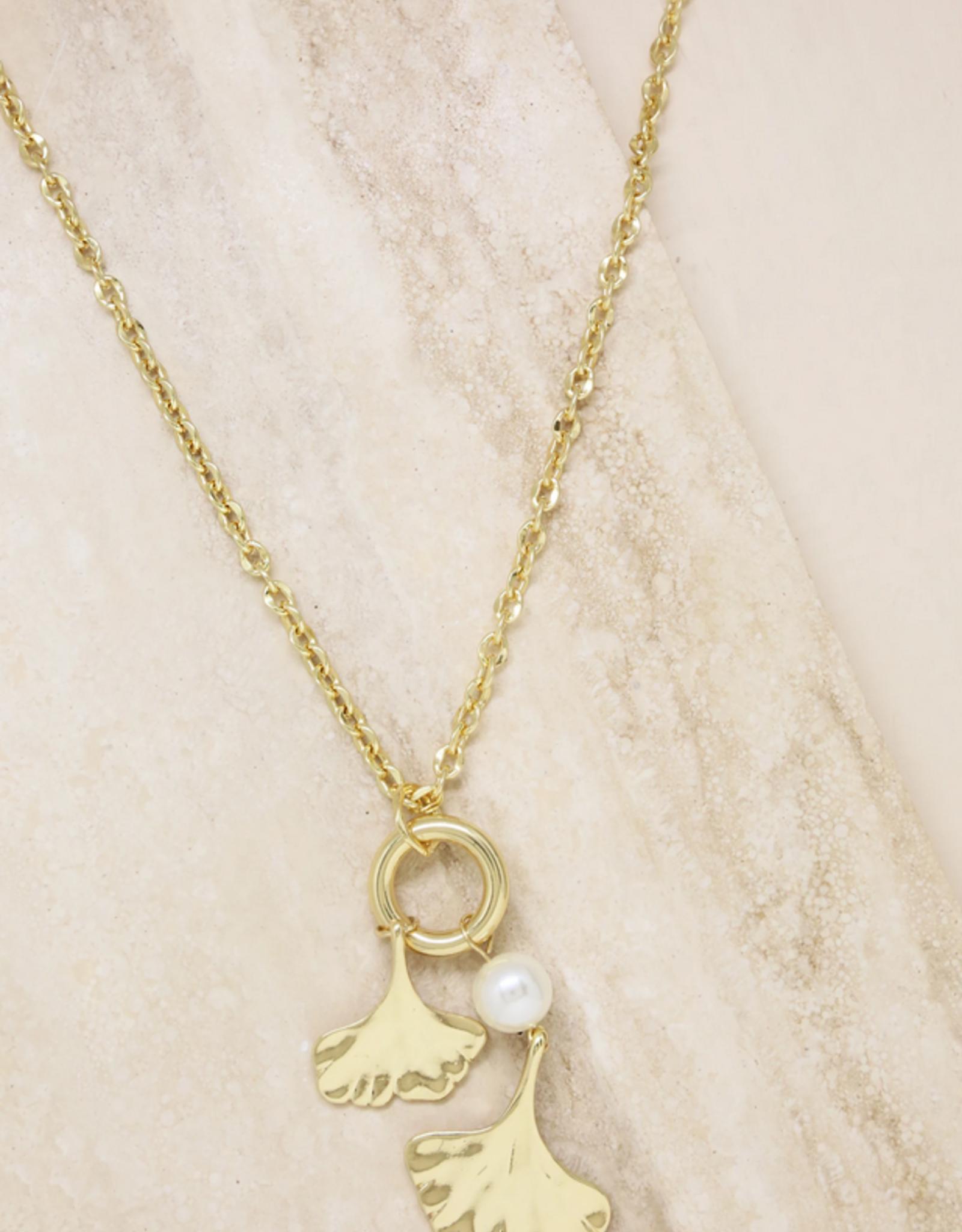 NECKLACE-AQUATIC, PEARL & GOLD