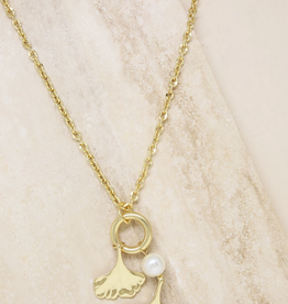 NECKLACE-AQUATIC, PEARL & GOLD