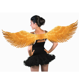 WINGS-GOLD METALLIC FEATHER