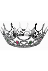 CROWN-ROYAL QUEEN, SILVER W/JEWELS