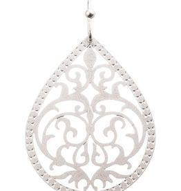 Rain Jewelry Collection EARRING-SILVER TEARDROP SWIRL