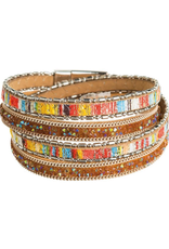 Rain Jewelry Collection BRACELET-BRIGHT & FUN COLOR LEATHER