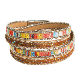 Rain Jewelry Collection BRACELET-BRIGHT & FUN COLOR LEATHER