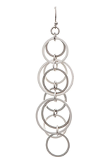 Rain Jewelry Collection EARRINGS-SILVER ROW OF RINGS