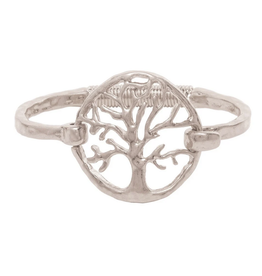 Rain Jewelry Collection BRACELET-SILVER TREE HINGE COIL