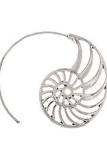Rain Jewelry Collection EARRINGS-SILVER NAUTILUS WIRE HOOP