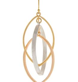 Rain Jewelry Collection EARRINGS-MULTI TRIPLE ELLIPSE