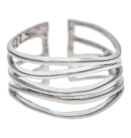 Rain Jewelry Collection RING-SILVER WAVY WIRES