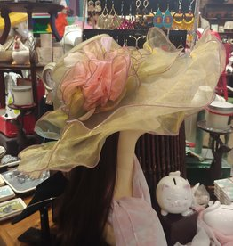 HAT-WOMENS-SO-ORGANZA GOLD