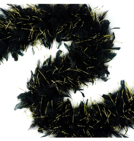 FEATHER BOA-CHANDELLE-LUREX MED, ASST