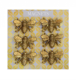 MAGNETS-BEE, PEWTER, 6PC