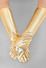 GLOVES-ELBOW LENGTH, METALLIC, GOLD