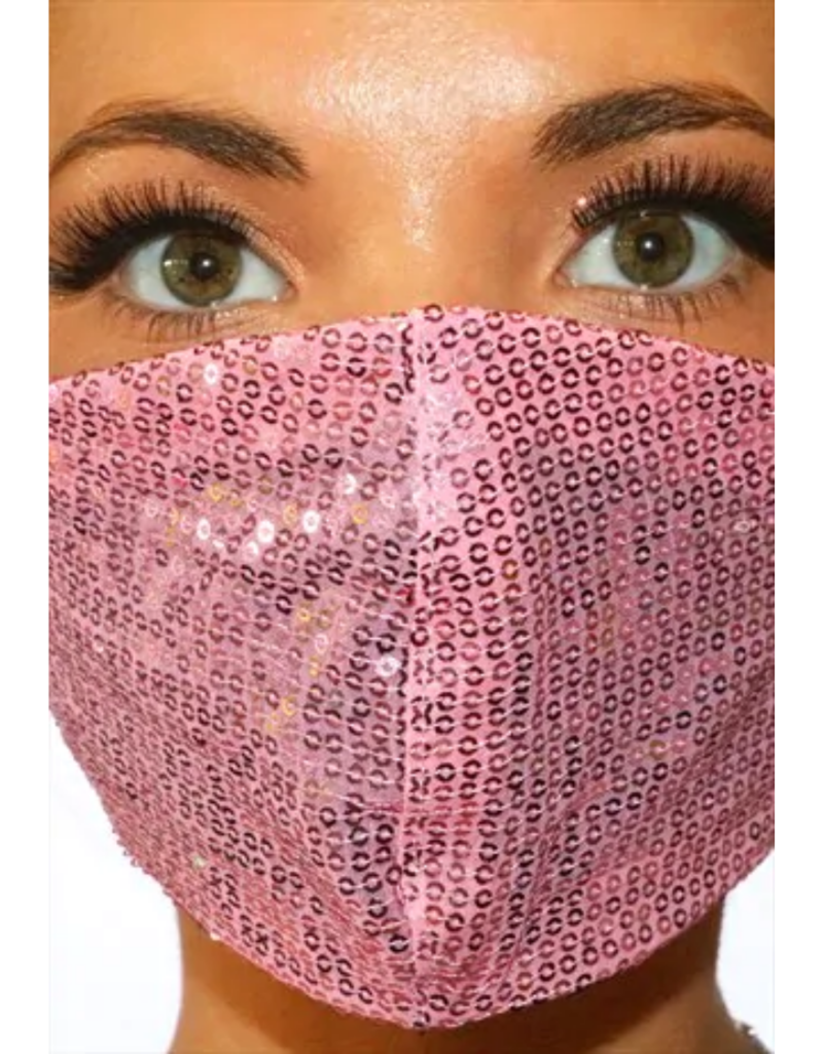 FACE MASK-SEQUINS FASHION, PINK