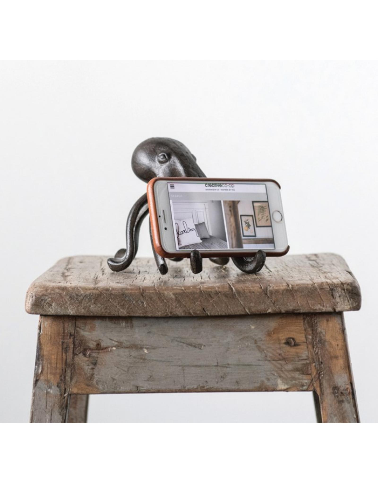 PHONE STAND-CAST IRON-OCTOPUS, 6'x5-1/4'x4-3/4'