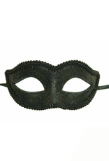 KBW Global Corp MASK-BLACK W/ LACE LIKE PATTERNED GLITTER, SMALL