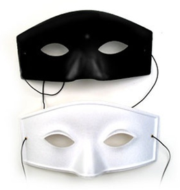 MASK-VENETIAN-SOLID, BLACK, D