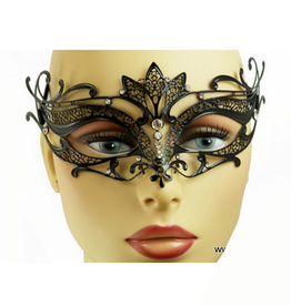 KBW Global Corp MASK-METAL, BLACK W/ RHINESTONES