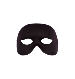 MASK-COCKTAIL HALF MASK, BLACK