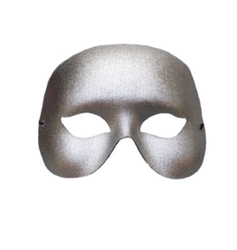 MASK-COCKTAIL HALF MASK, SILVER