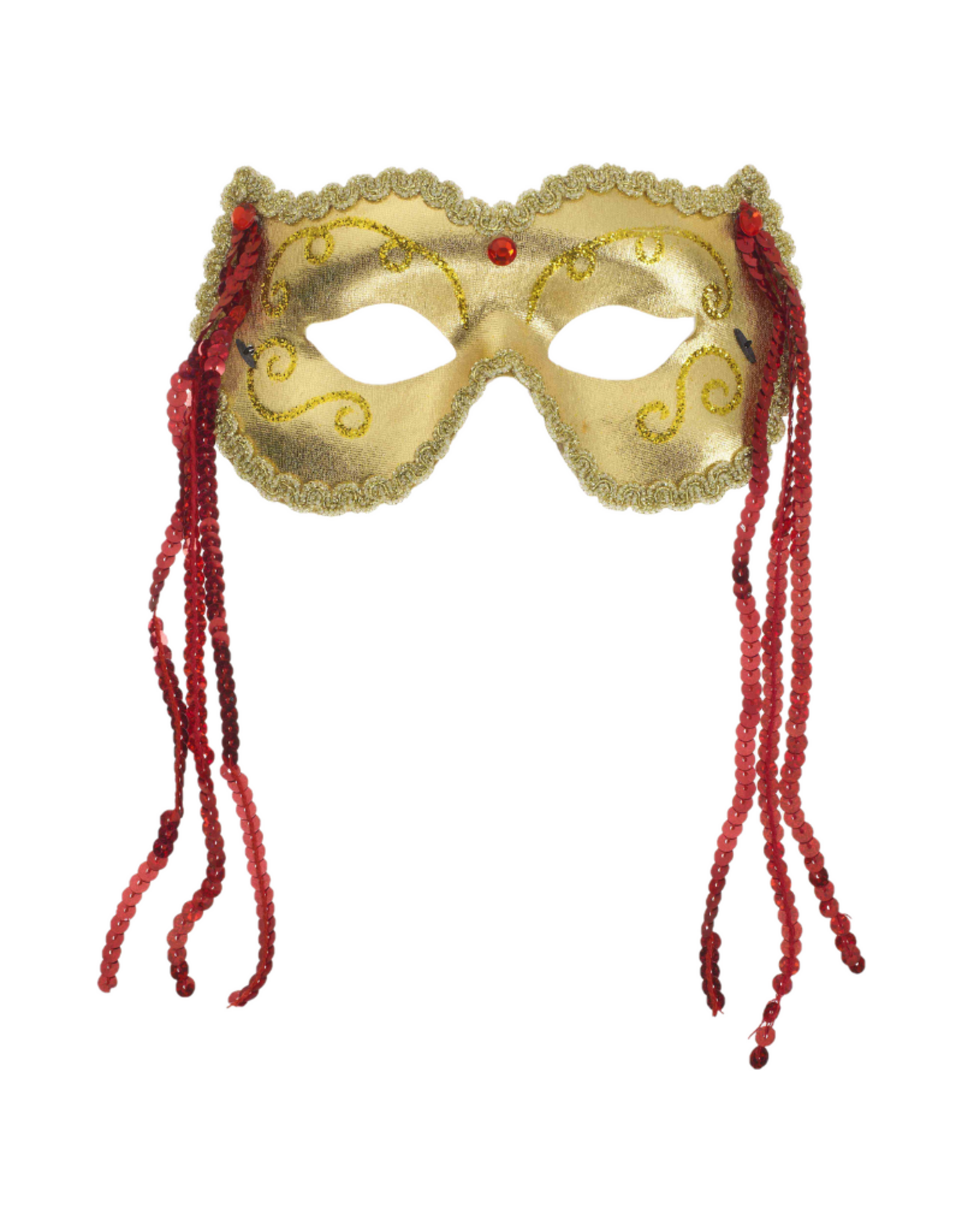 MASK-GRAND FESTIVE GOLD/RED