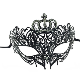 KBW Global Corp MASK-METAL-CROWN W/ RHINESTONES