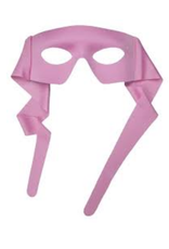 MASK-HERO, PINK W/TIES