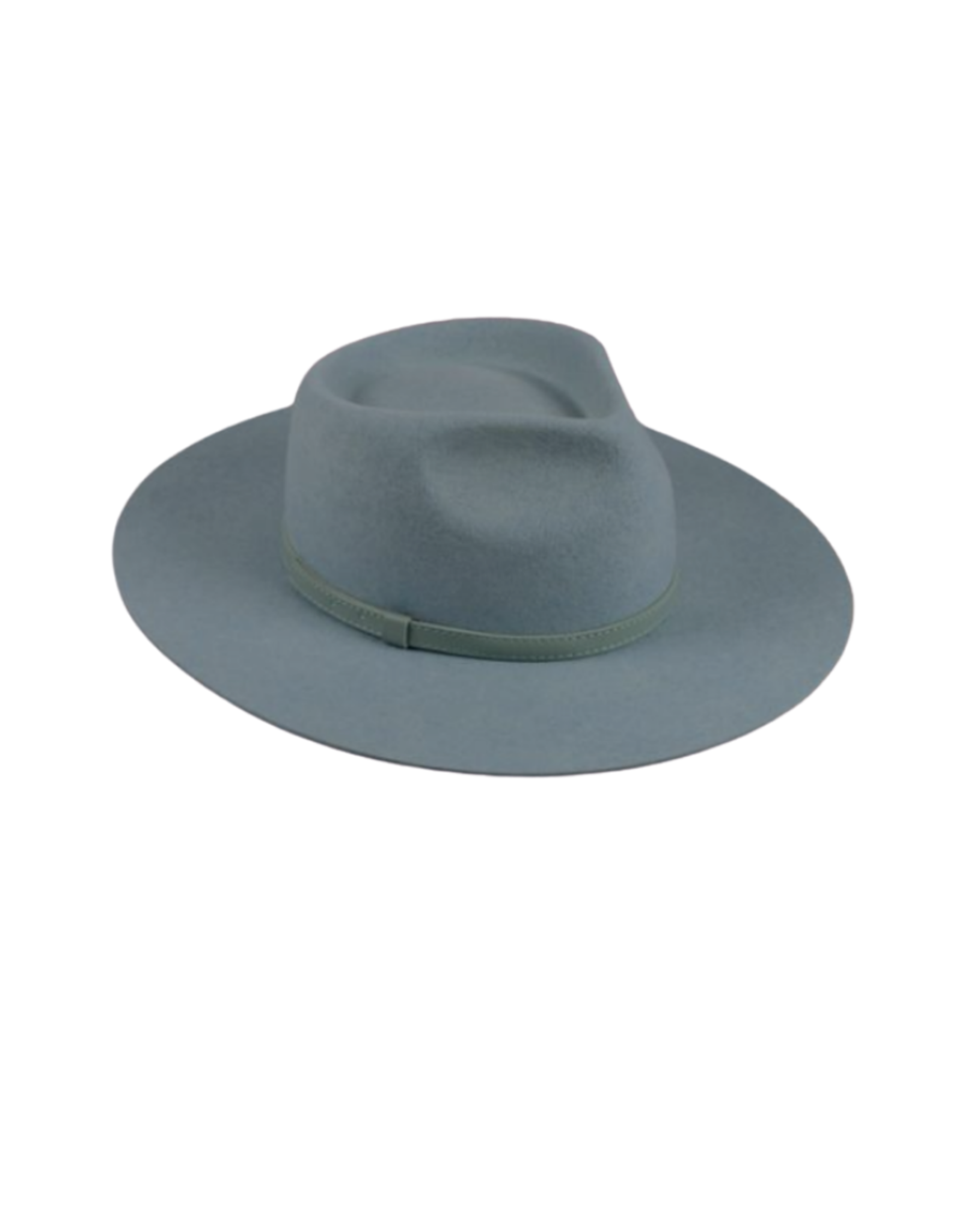 """HAT-FEDORA , 3.5"""" BRIM F TURQUOISE"""
