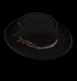 "HAT-GAUCHO, 3.25"" KETTLE  BRIM BLACK"