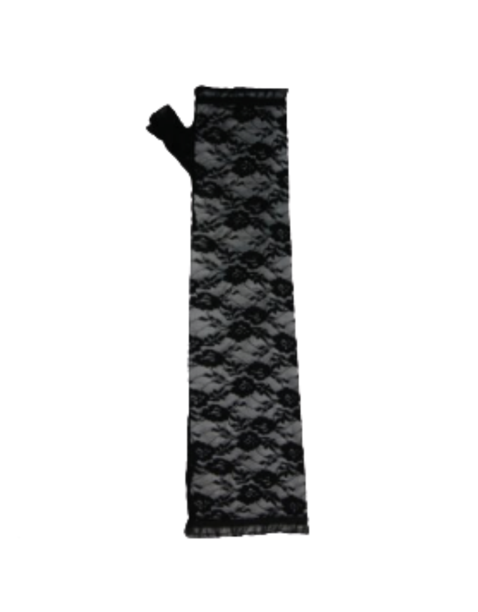 ARMWARMERS-LACE ELBOW LENGTH, BLK