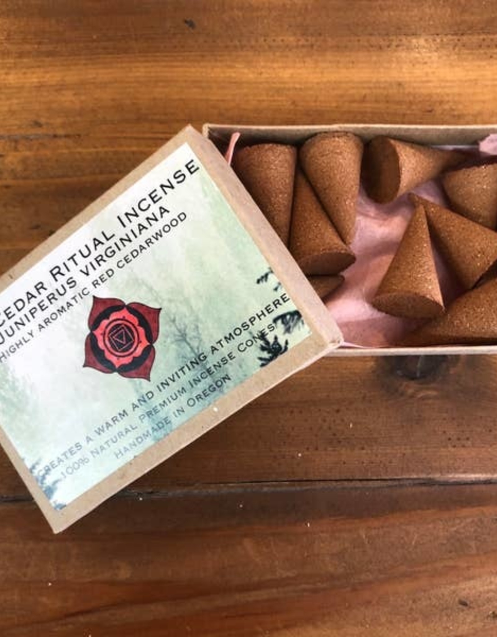Faire/Nomads and Settlers INCENSE-HANDROLLED CEDAR CONE