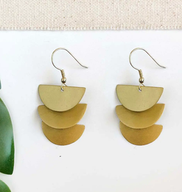 Faire/WorldFinds EARRINGS-CASCADING MOON - GOLD