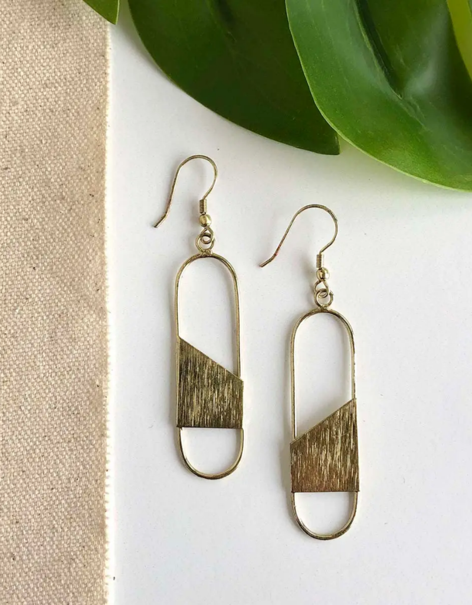 Faire/WorldFinds EARRINGS-ALAINA - GOLD