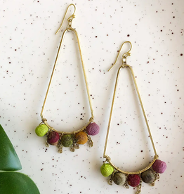 Faire/WorldFinds EARRINGS-KANTHA ISOCELES