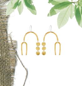 Faire/Minds Eye Design EARRINGS-MOBILE, GLD