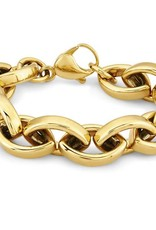 BRACELET-MENS GOLD LINKS
