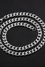 NECKLACE-CRUCIBLE MEN'S CURB STAINLESS, SILVER